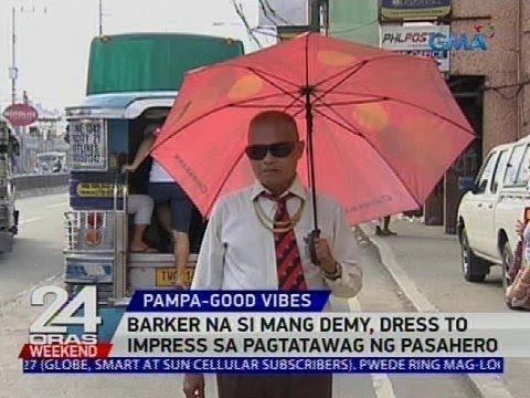 Barker na si Mang Demy, dress to impress sa pagtatawag ng pasahero