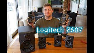 5.1 Lautsprecher - Logitech Z607 - 5.1 Surround Sound, Bluetooth, USB - Unboxing & Inbetriebnahme