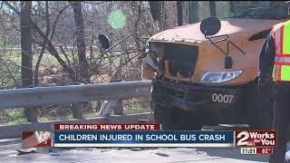 Children injured in school bus crash