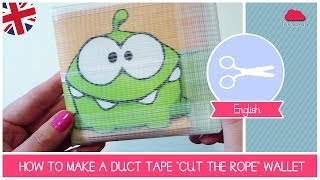 Tutorial HOW TO Make A Duct Tape Wallet CUT THE ROPE Videogame Inspired (gift Idea) By Fantasvale