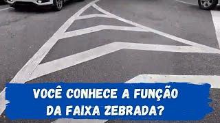 #EducaTrânsito - Você conhece a função da Faixa Zebrada?