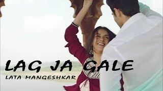 Lata Mangeshkar - Lag Ja Gale (Lyrics Video) - YouTube