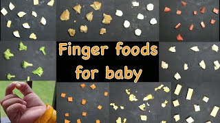 Baby Food | Finger Foods For Babies | 9 Months Baby Food