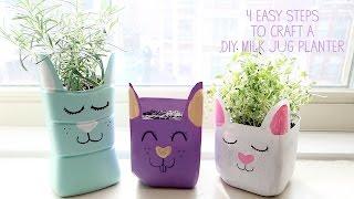How to Make a Milk Jug Planter Craft for Kids