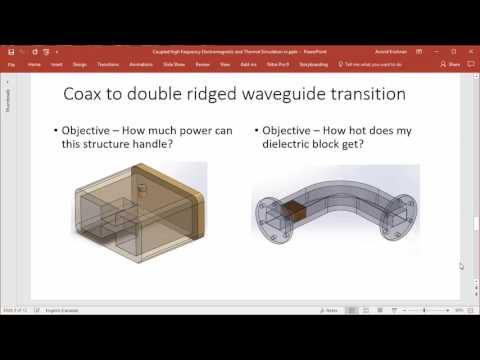Webinar: Multi-physics Simulation - Coupled RF/ Microwave and Thermal Simulation in Solidworks