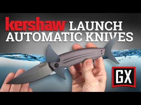 Kershaw Launch 4 Gray Automatic Knife CA Legal - Black Plain
