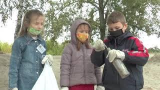 Сотні мішків сміття зібрали харків'яни поблизу водосховища на річці Уди