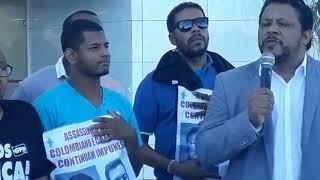 Adilson Araújo, em ato por celeridade da Justiça no caso Colombiano/Catarina