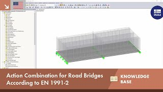 Action combination for road bridges according to EN 1991-2