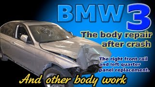 BMW 3. Body repair. Ремонт кузова.