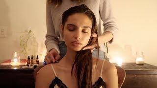 Video ASMR | Night massage with gua sha, herbs, natural oils (soft spoken) MP3, 3GP, MP4, WEBM, AVI, FLV September 2019