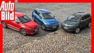 SUVs aus dem VW-Konzern (2018) Kompakt-SUVs im Vergleich