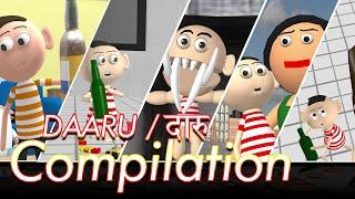 Daaru Daaru - All videos compilation   Daaru Piyunga   Goofy Works   Comedy toons