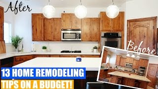 Home Remodeling Tips & Ideas on a Budget! (with Before & After)