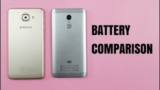 Samsung J7 MAX vs Redmi Note 4 BATTERY COMPARISON TEST | Real Test!