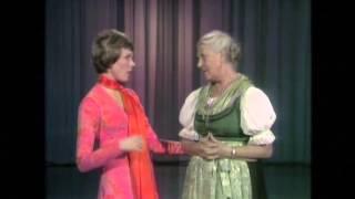 Maria von Trapp teaches Julie Andrews to Yodel