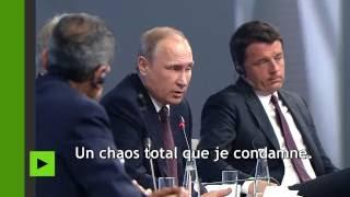 Poutine sur les débordements de l'Euro 2016 : les délinquants doivent être punis au cas par cas