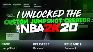 I UNLOCKED THE CUSTOM JUMPSHOT CREATOR IN NBA 2K20! HOW TO GET BEST JUMPSHOTS & BADGES IN MYCAREER
