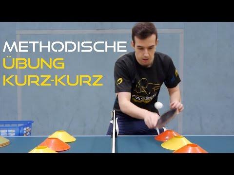 Methodische Übung am Tischtennis Netz - Kurz Kurz  | Tischtennis Helden