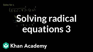 Solving Radical Equations 3