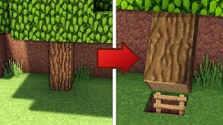Minecraft: How To Build A Survival Secret Base Tutorial #6 - (Hidden House)