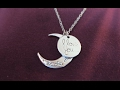 Jewelry Heart Moon Necklace, I Love You To The Moon and Back