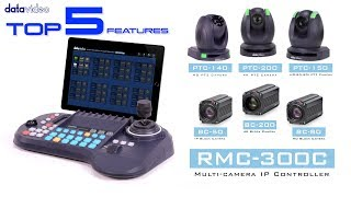 【Official】Top 5 Features of RMC-300C Multi-camera IP Controller|Datavideo