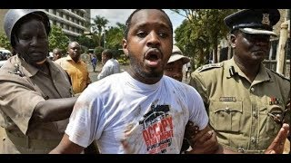 Former Starehe MP aspirant Boniface Mwangi organizes a protest against police killings