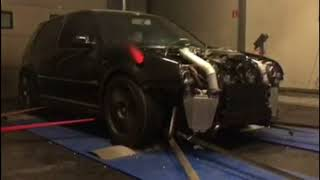 The CRAZIEST TURBOS You'll EVER See! Golf RS V10 Dyno **XXXXHP**