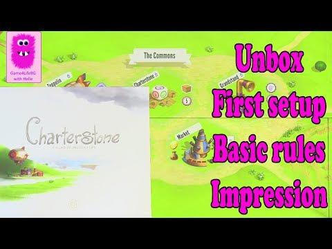 Unbox, setup, basic rules & impression of Charterstone
