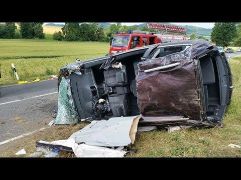 Fünf Verletzte nach Unfall bei Zierenberg - Hund blieb unverletzt 24.06.2017