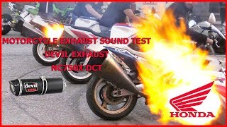 Motorcycle Exhaust Sound Test DEVIL Exhaust Honda NC750X