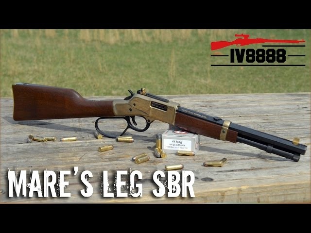IraqVeteran8888 Makes a Mare's Leg SBR!