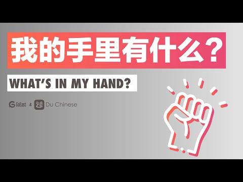 我的手里有什么? What's in my hand?