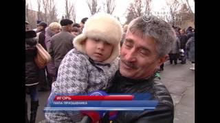 В Донецке — призывники внутренних войск
