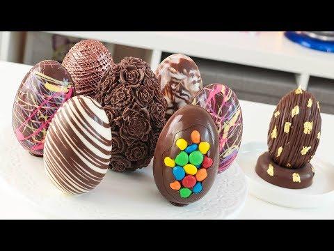 Hermosos Huevos De Chocolate Para Preparar En Pascua