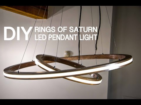 "DIY ""Rings of Saturn"" LED Pendant Light w/ Music Visualization Mode (controlled by Arduino)"