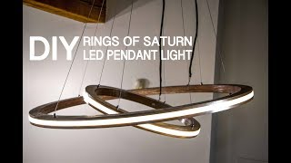 DIY Music Reactive Rings Of Saturn LED Pendant Light (controlled By Arduino) || How To Make