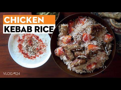 SUPER DELICIOUS 😋😋😋 KEBAB RICE  |  5-Minutes Cooking Recipe  | E-124