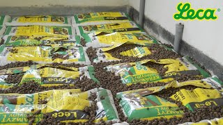 Izolacja podłogi na gruncie keramzytem w workach