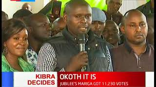 ODM's Imran Okoth declared winner of the Kibra by-election