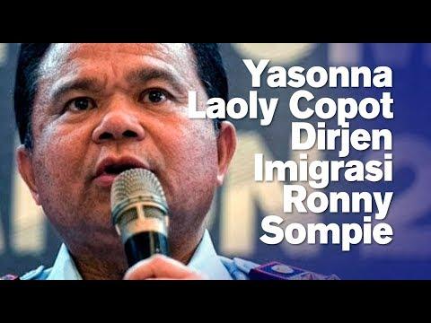 Yasonna Laoly Copot Dirjen Imigrasi Ronny Sompie