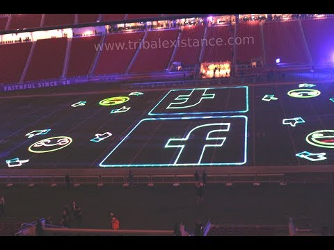 Stadium Sporting Event - Laser Mapping Graphic Logo