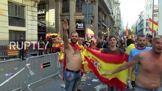 Spain: Unionist protesters give Nazi salutes during Barcelona anti-independence rally