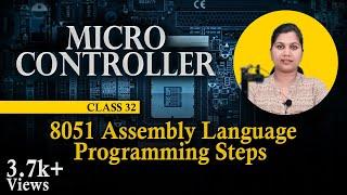 8051 Assembly Language Programming Steps - 8051 Assembly Language Programming - 8051 Microcontroller