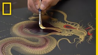 The Art of Single Stroke Painting in Japan | National Geographic