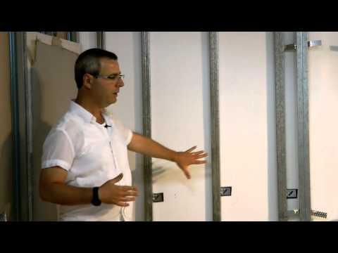 טיח יבש: חיפוי קירות בגבס לצורך יישור ותיקון