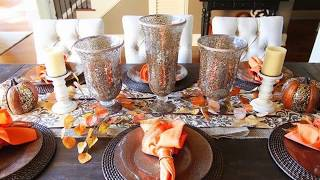 2017 Fall Table Decorations