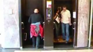 preview picture of video 'Elevator of the Bata skyscraper in Zlin'