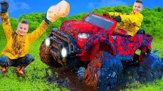 Monster Truck in der Waschanlage | Spielgeschichten für Kinder